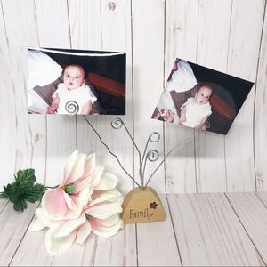 Wooden and Metal Family Tree Photo Picture Holder